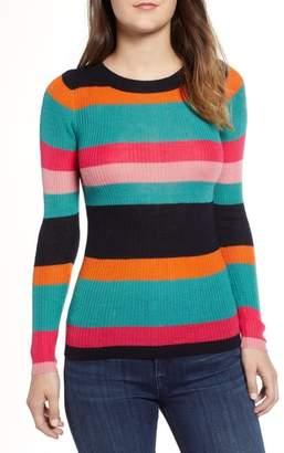 Cotton Emporium Rainbow Skivvy Stripe Sweater