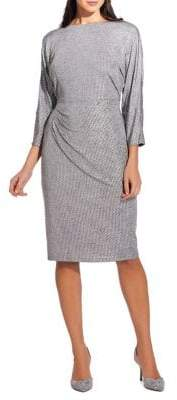 Adrianna Papell Armored Jersey Dolman Sleeve Dress