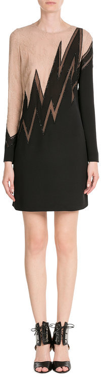 Emilio Pucci Emilio Pucci Embellished Silk Dress with Lace