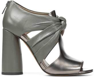 Donald J Pliner BAILEY, Metallic and Nappa Leather Sandal