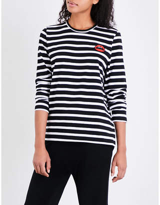 Markus Lupfer Lara Lip striped cotton-jersey top