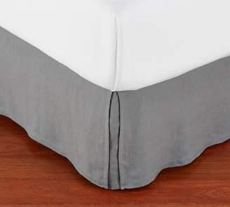 Pottery Barn Belgian Flax Linen Bed Skirt - Flagstone