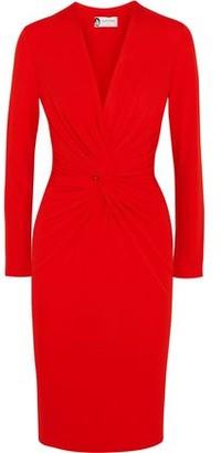 Lanvin Twist-Front Stretch-Crepe Dress