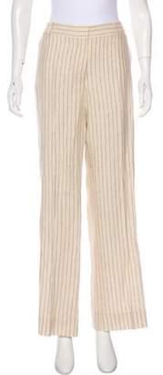 Etro Linen Mid-Rise Pants grey Linen Mid-Rise Pants