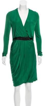 Yigal Azrouel Embellished Gathered Dress