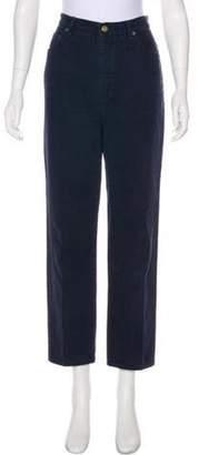 St. John High-Rise Straight-Leg Jeans Navy High-Rise Straight-Leg Jeans