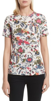 Women's Tory Burch Daya Floral Tee $98 thestylecure.com