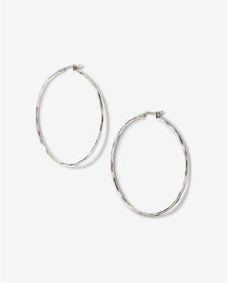 Express Textured Metal Hoop Earrings $14.90 thestylecure.com