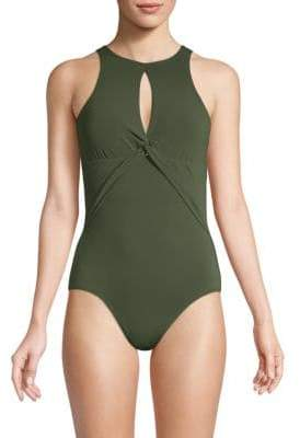Robin Piccone Knotted One-Piece Swimsuit