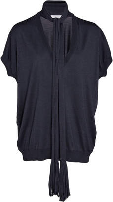 Brunello Cucinelli Tie-Detailed Cashmere And Silk-Blend Top