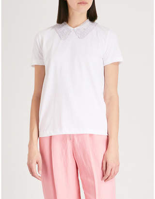 Sandro Peter Pan collar T-shirt