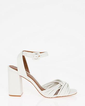 Le Château Brazilian-Made Leather Ankle Strap Sandal
