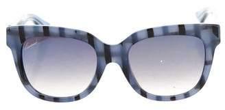 Gucci Striped Mirrored Sunglasses
