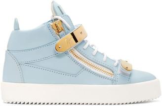 Giuseppe Zanotti SSENSE Exclusive Blue London High-Top Sneakers $995 thestylecure.com