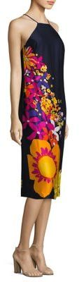 Trina Turk Floral Printed Midi Dress $328 thestylecure.com