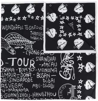 Givenchy tour date print scarf