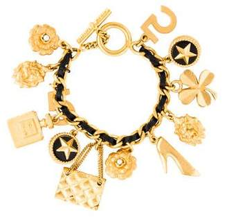 Chanel Faux Pearl Lucky Charm Bracelet