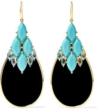 Ippolita 18-karat Gold Multi-stone Earrings - Turquoise