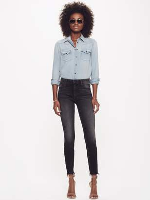 Mother High Waisted Looker Ankle Fray - Night Hawk