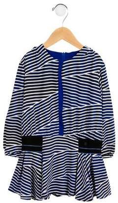 Kenzo Girls' Striped Pleated Dress