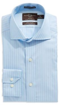 Black Brown 1826 Fitted Button-Down Dress Shirt