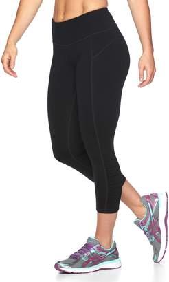 Tek Gear Women's Shapewear Shirred Capri Workout Leggings