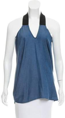 Zero Maria Cornejo Chambray Sleeveless Top