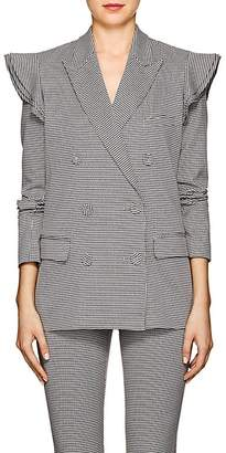 Opening Ceremony Women's Houndstooth Cotton-Blend Ruffled Blazer