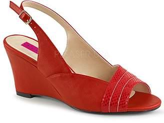 Pleaser USA Pink Label Women's Kim01sp/Rpu Wedge Sandal
