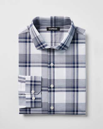 Express Classic Plaid Cotton Dress Shirt