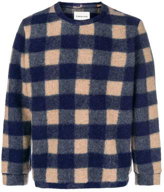 Corelate plaid knit sweater