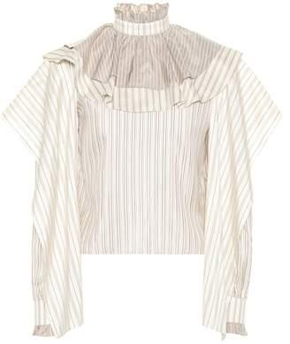 J.W.Anderson Striped silk blouse