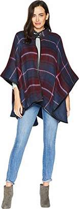 Collection XIIX Women's Windowpane Plaid Cape