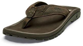 OluKai Boys' Nui Leather Thong Sandal, Kids
