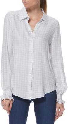 Paige Mya Gingham Ruffle Cuff Shirt