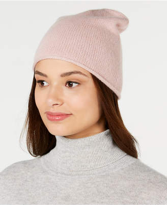Charter Club Rolled Cashmere Beanie