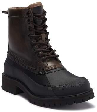 Frye Alaska Lace-Up Waterproof Leather Genuine Shearling High-Top Boot