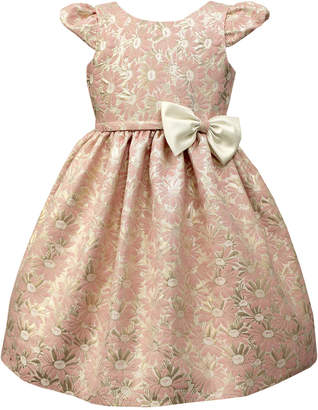 Jayne Copeland Floral Jaquard Cap Sleeve Dress, Toddler & Little Girls (2T-6X) $74 thestylecure.com