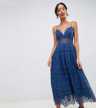 Asos Tall DESIGN Tall lace cami midi prom dress