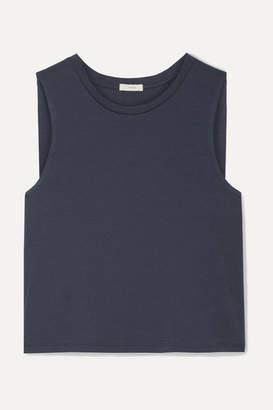 Eberjey Romy Clique Cropped Pima Cotton-jersey Pajama Top - Navy