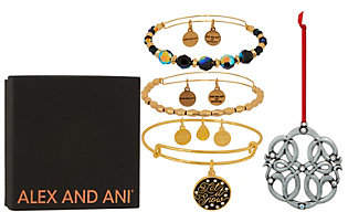 Alex and Ani S/3 Let It Snow Bangles& Ornament