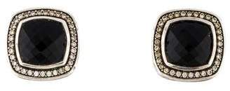 David Yurman Onyx & Diamond Albion Earrings