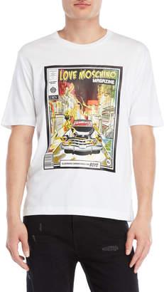 Love Moschino Magazine Cover Tee