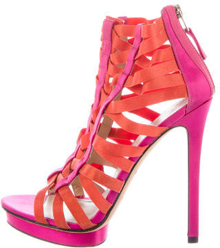 B Brian Atwood Satin Cage Sandals $95 thestylecure.com
