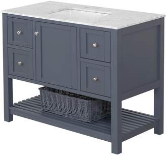"Three Posts Chertsey Open Cabinet 42"" Single Bathroom Vanity Set Top"