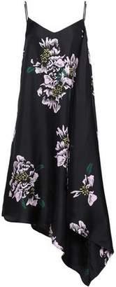 Paper London Bento Asymmetric Floral-Print Silk-Twill Midi Dress