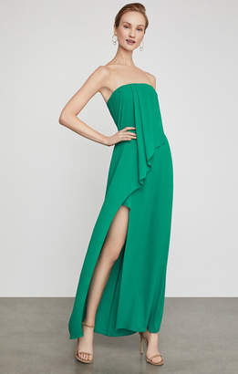 BCBGMAXAZRIA Draped Front Strapless Gown