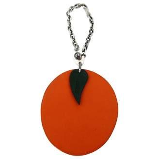 Hermes Orange Leather Bag charms
