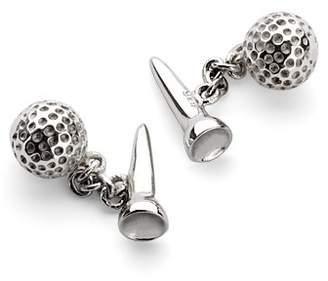 Aspinal of London Sterling Silver Golf Ball Tee Cufflinks