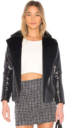 by the way. Zora Faux Fur Moto Jacket